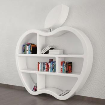 Libreria design a mela Gluttony ZAD Italy Bianca Grigia Rossa