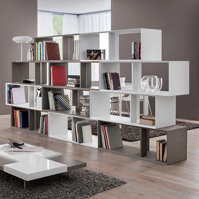 Libreria divisoria bifacciale autoportante August