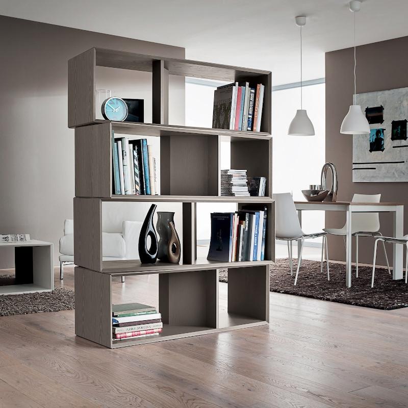 Libreria a giorno divisoria per separare ambienti Joakim
