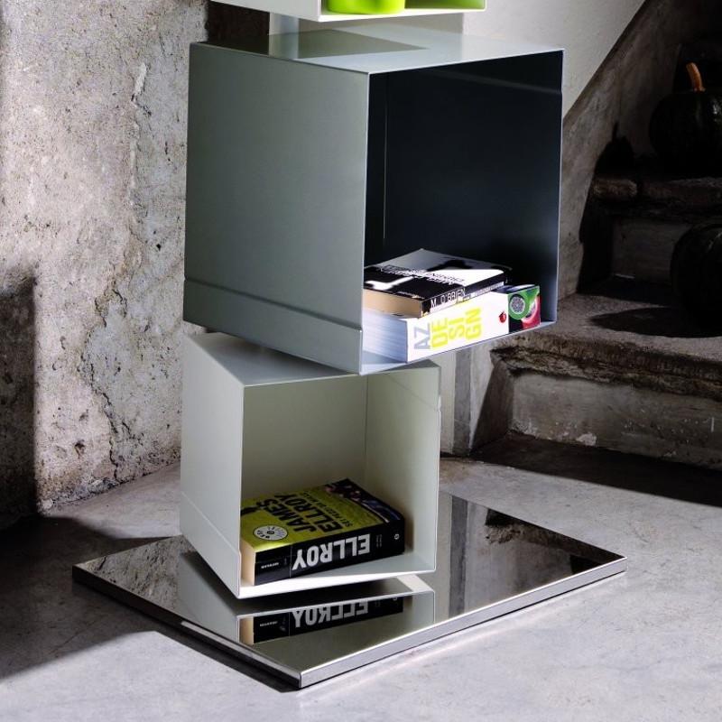 Libreria a colonna Skatola sk22 MotusMentis in acciaio 50 x 175 cm
