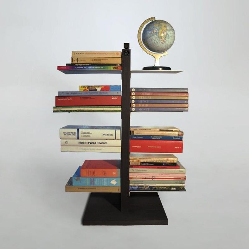 Zia Bice libreria a colonna da terra in legno naturale 160 cm