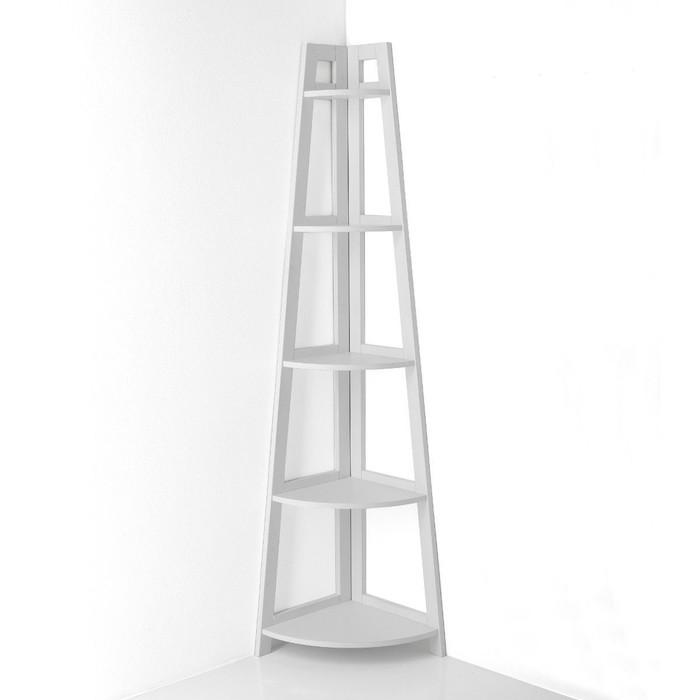 Libreria verticale da parete in legno bianco Balsas