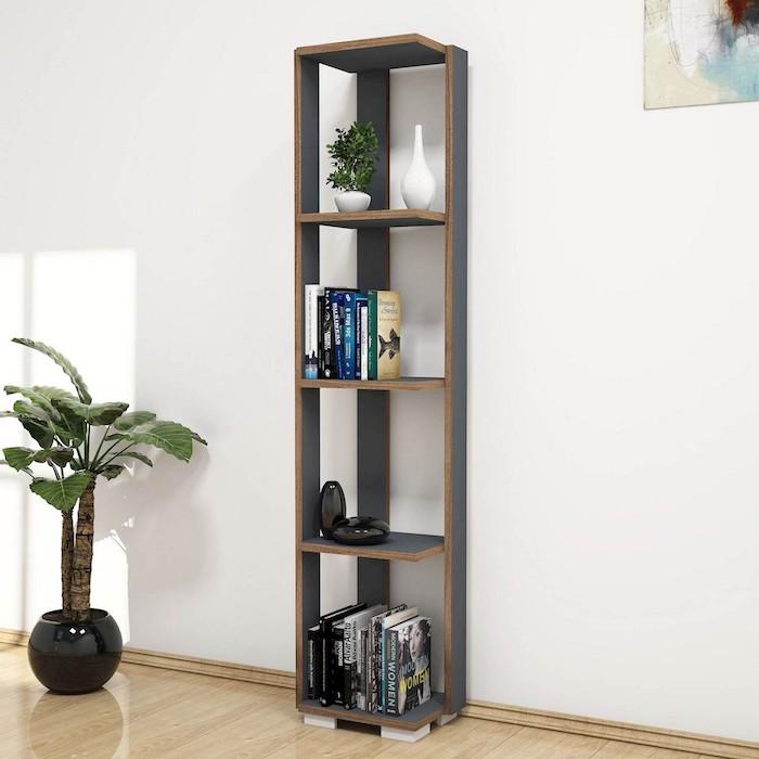 Libreria verticale a colonna design moderno Lucas