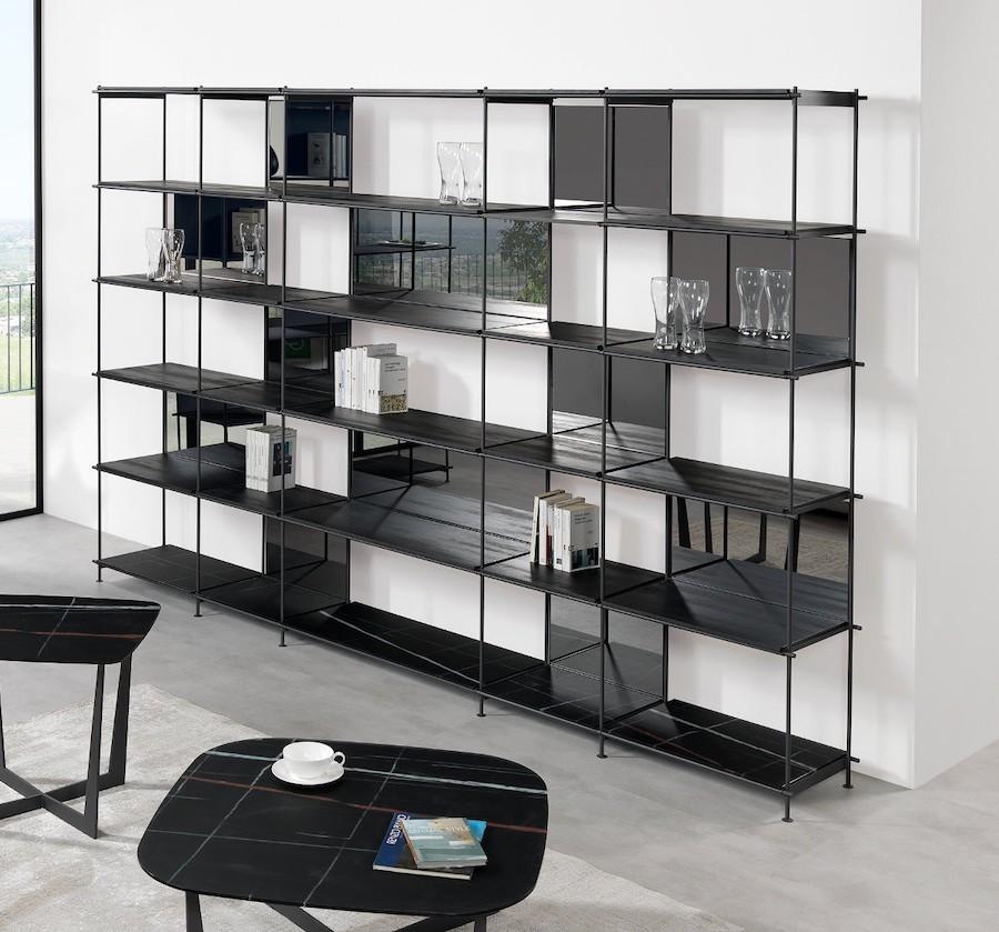 Libreria divisoria bifacciale design Musa