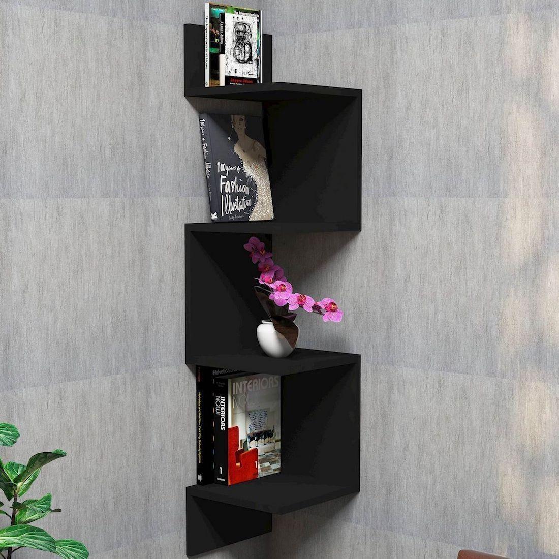 Mensola angolare da parete in legno Twister