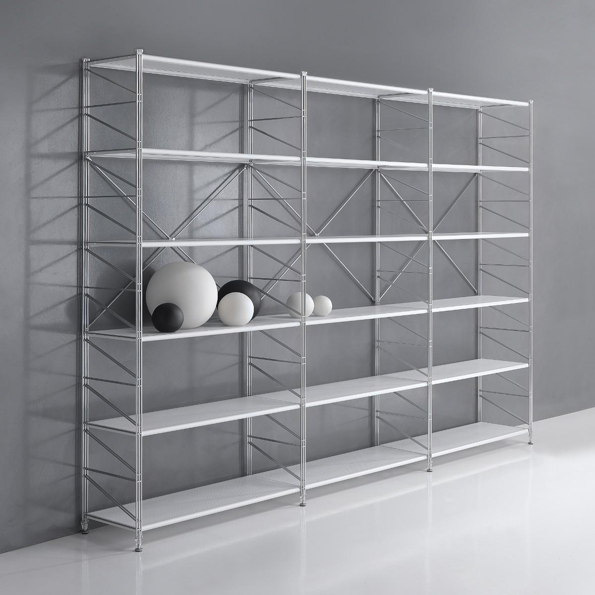 Librerie componibili in acciaio come creare scaffali e scaffalature su misura - Scaffali in metallo ikea ...