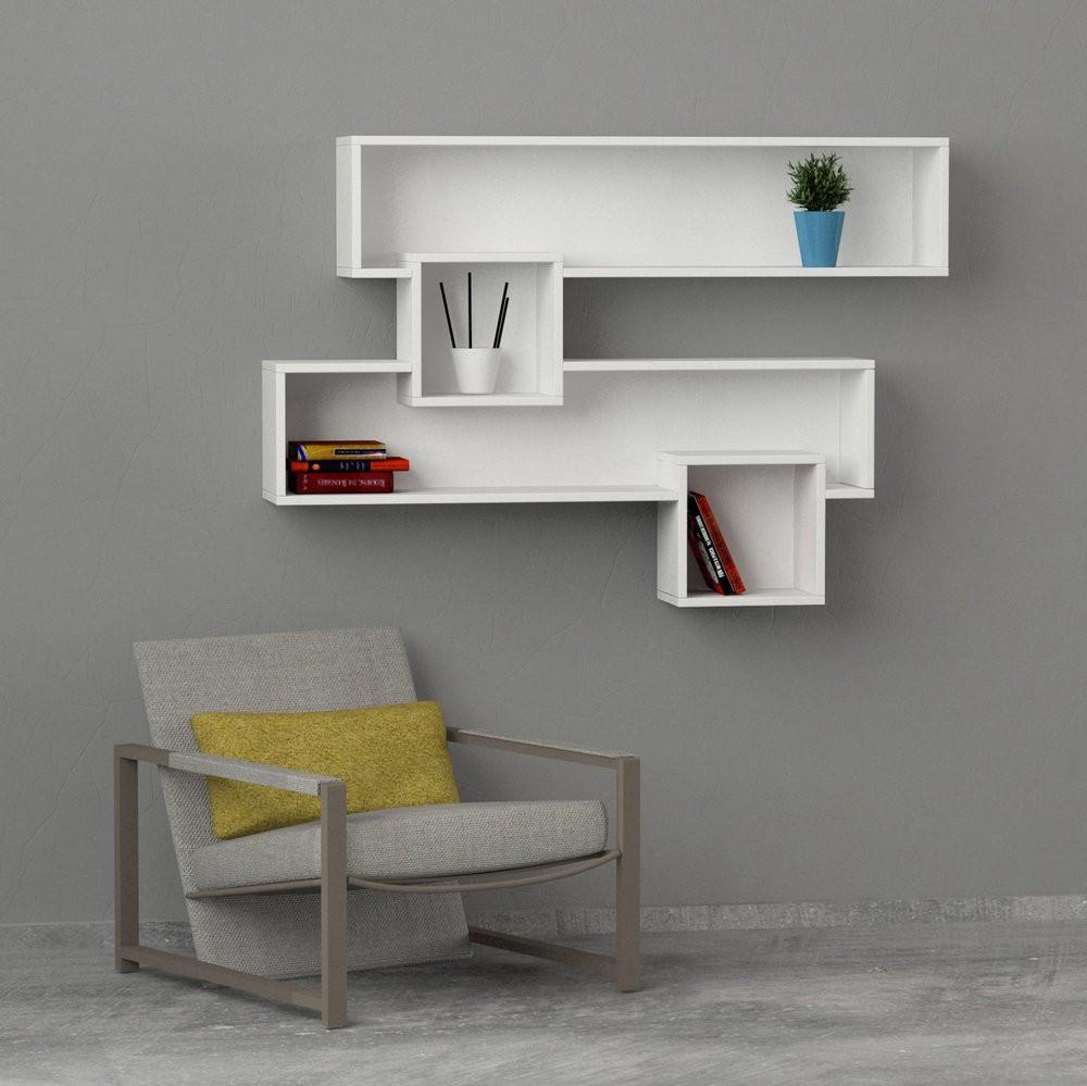 Come aggiungere colore e stile alle pareti della casa con for Mensole libreria