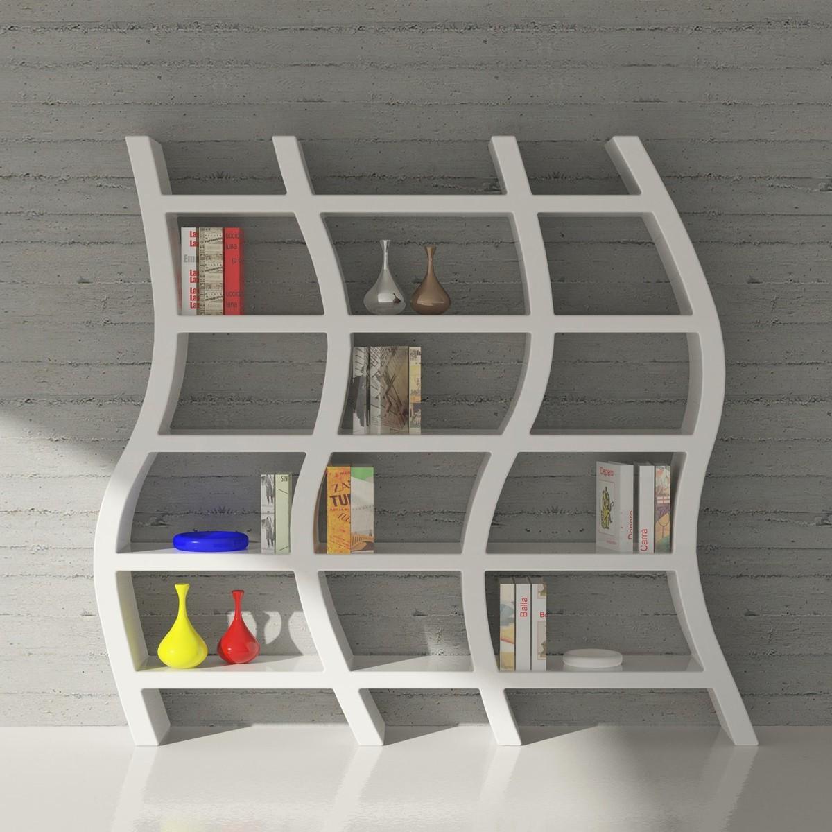 Libreria scaffale da terra bianco Zaum