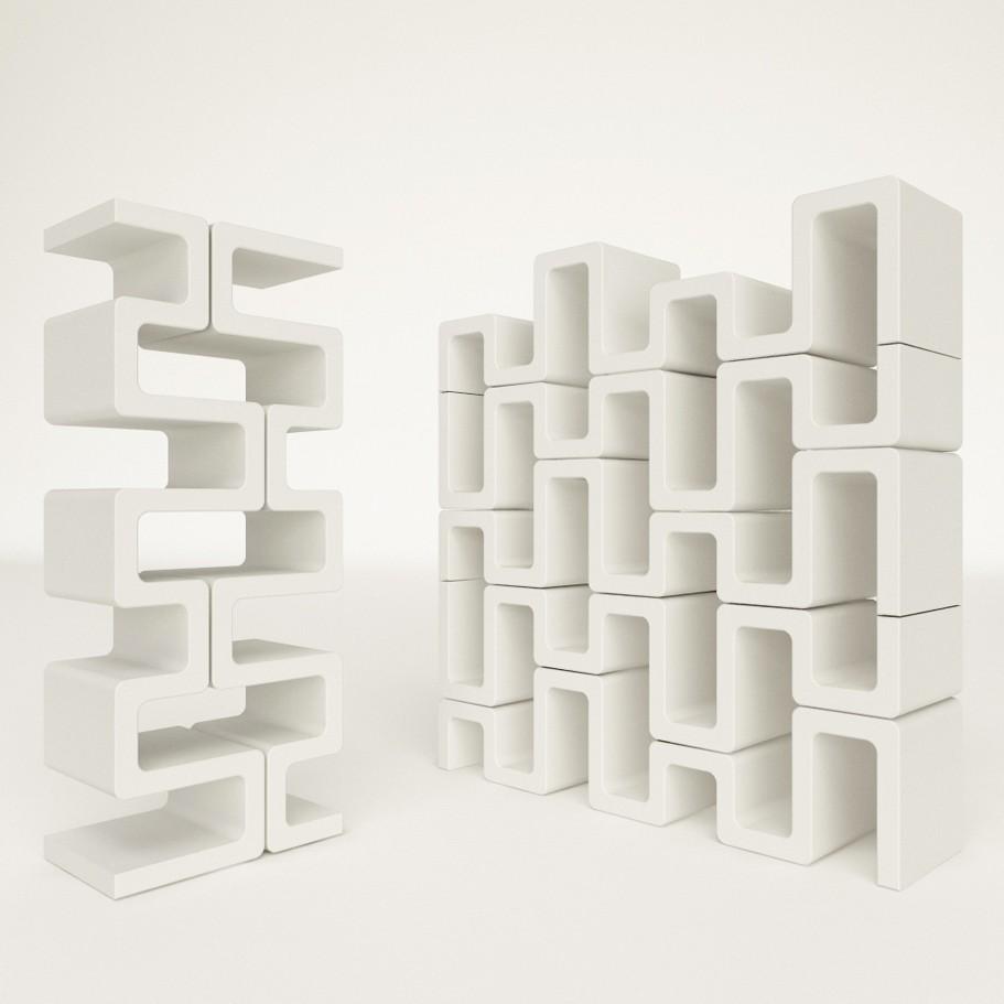 Libreria verticale modulare Sisma