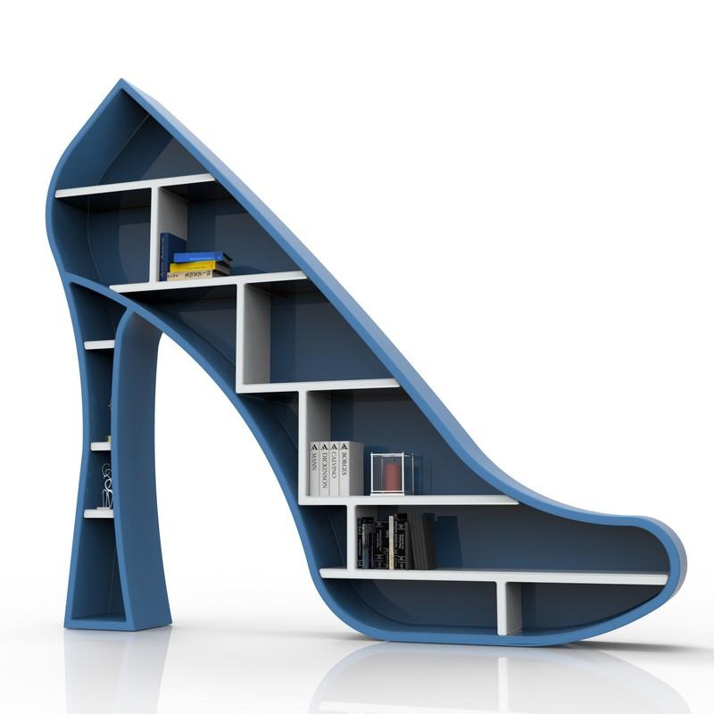 Libreria a forma di scarpa con il tacco Lady