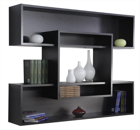 Libreria design Tato in legno 125 x 100 cm colore grigio o nero
