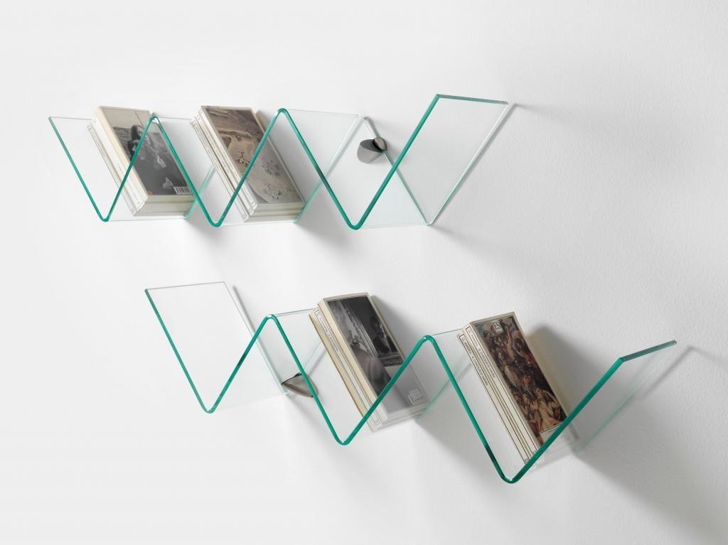 Mensole in vetro curvato soluzioni di design per la tua parete - Mensole da parete design ...