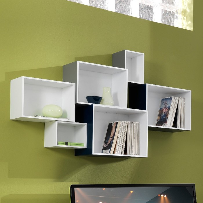 Cubi libreria 6 prodotti componibili per dare un tocco di for Mensole moderne camera da letto