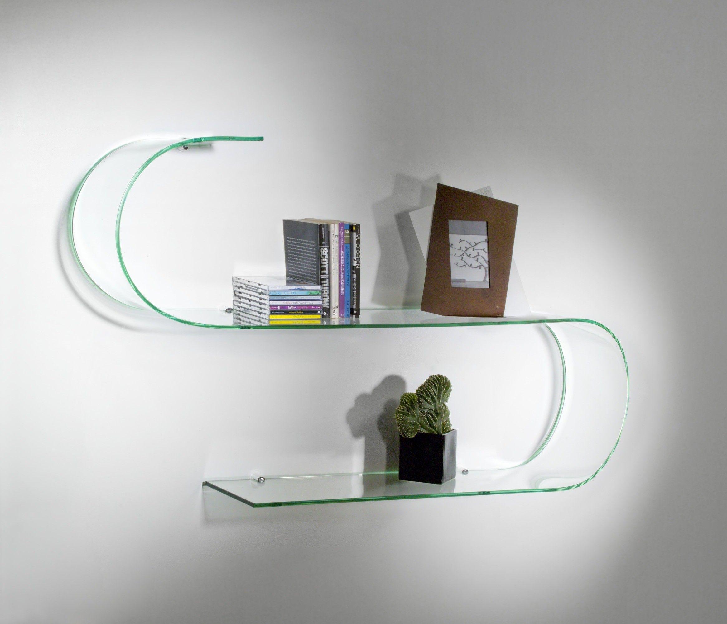 Mensole in vetro curvato soluzioni di design per la tua parete - Ikea mensole vetro ...